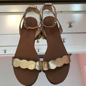 Sole Society Scalloped Sandals
